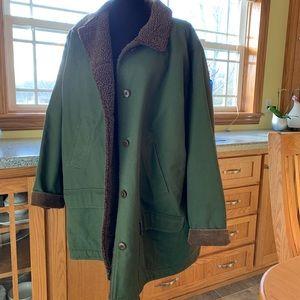 Deep green Lands End barn jacket
